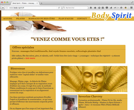 realisation du site Internet de Severine Chevrey