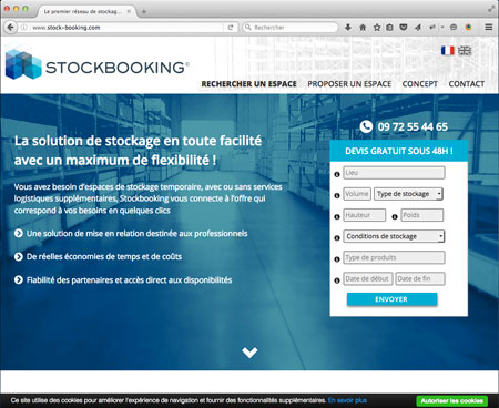 réalisation du site Internet de Stock Booking